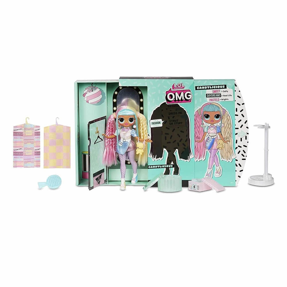 Большая кукла LOL Surprise OMG Candylicious Fashion Doll с 20 сюрпризами