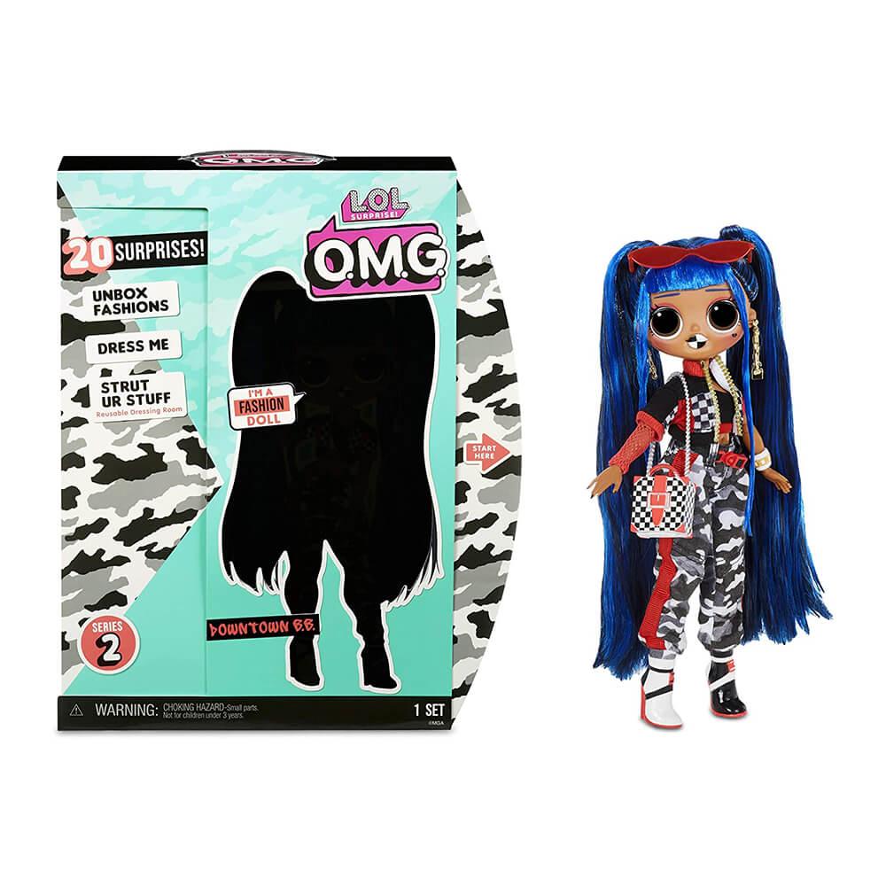 Большая кукла LOL Surprise OMG Downtown B.B. с 20  сюрпризами (2 серия) - 3